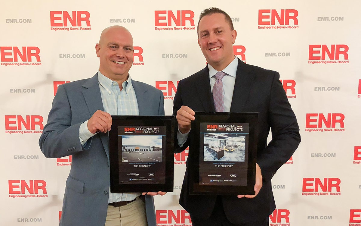 The Foundry and CSM Group receive an Award of Merit from ENR – Midwest